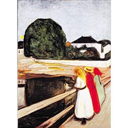 Ricordi Puzzle The Girls On The Bridge,Munch (1000 Parça)