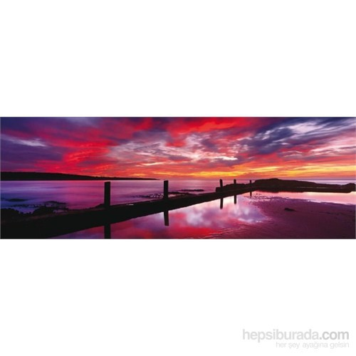 Schmidt 1000 Parça Panorama Puzzle Sea Baths At Sunset By Mark Gray