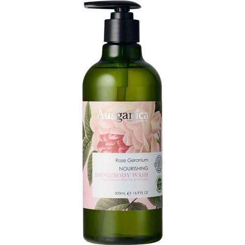 Ausganica Rose Geranium Nourishing Hand & Body Wash