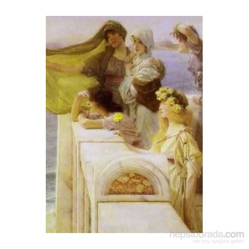 At Aphrodite's Cradle, Lawrence Alma Tadema (1500 Parça Puzzle)