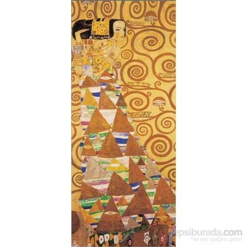 Die Erwartung, Gustav Klimt (2000 Parça, Panorama Puzzle)