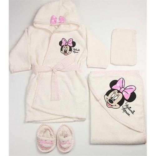 Çimpa Minnie Mouse Bornoz Seti