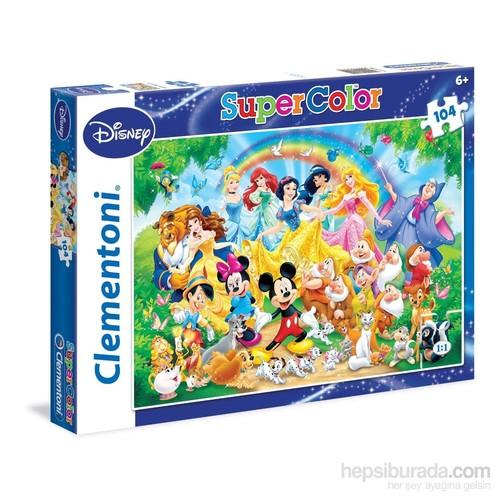 Clementoni 104 Parça Disney Karakterleri Ve Prensesler Puzzle