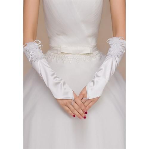 Merry See Beyaz Özel Tasarım Eldiven Beyaz