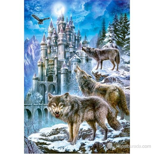 Castorland Puzzle 1500 Parça Wolves And Castle