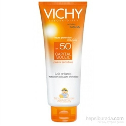 Vichy Capital Soleil Spf50+ Çocuklar İçin Yüz Ve Vücut Güneş Sütü 300Ml