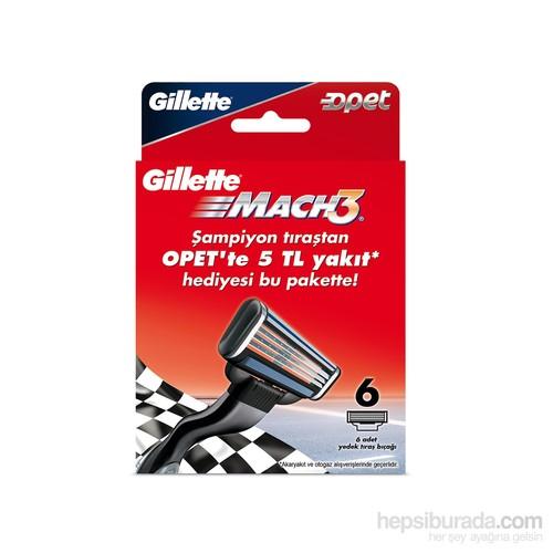 Gillette Mach3 Yedek Tıraş Bıçak 6'lı