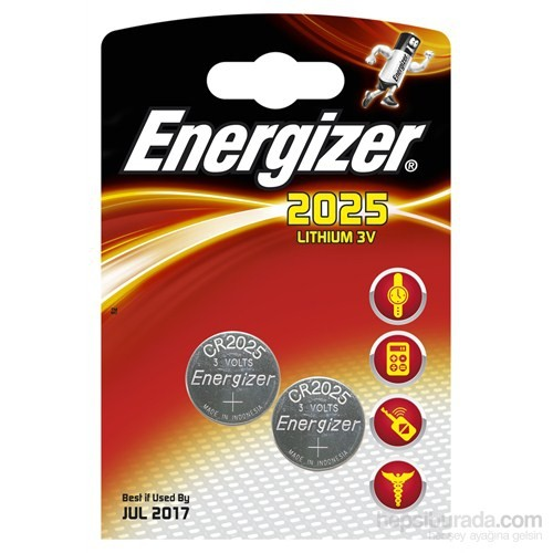 Energizer (A5-8333) Cr2025 Lityum Pil 2Li Blister