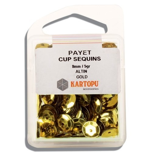Kartopu 8 Mm Altın Payet - 02.101