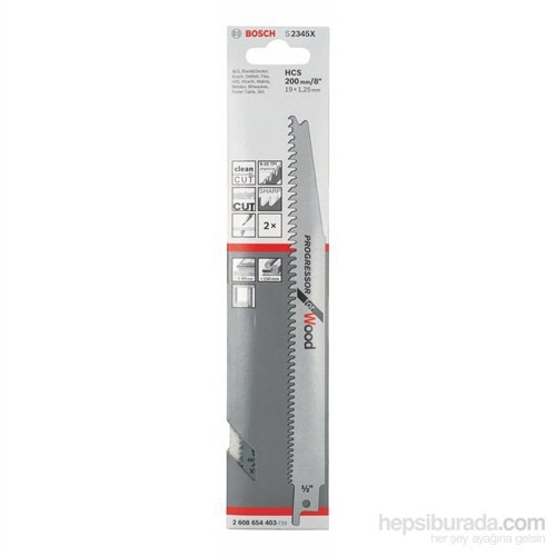 Bosch - Progressor Serisi Ahşap İçin Tilki Kuyruğu Bıçağı S 2345 X - 2'Li Paket