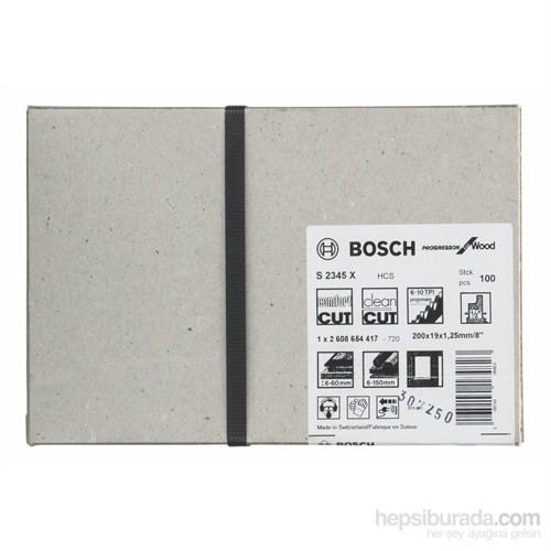 Bosch - Progressor Serisi Ahşap İçin Tilki Kuyruğu Bıçağı S 2345 X - 100'Lü Paket