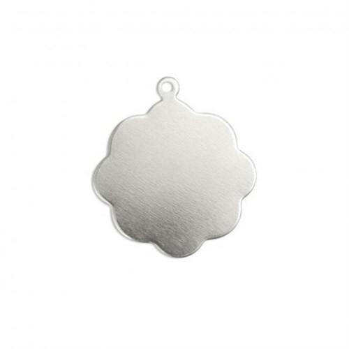 Impressart Çiçek Halkalı Gümüş Damga Levha - Iad12368