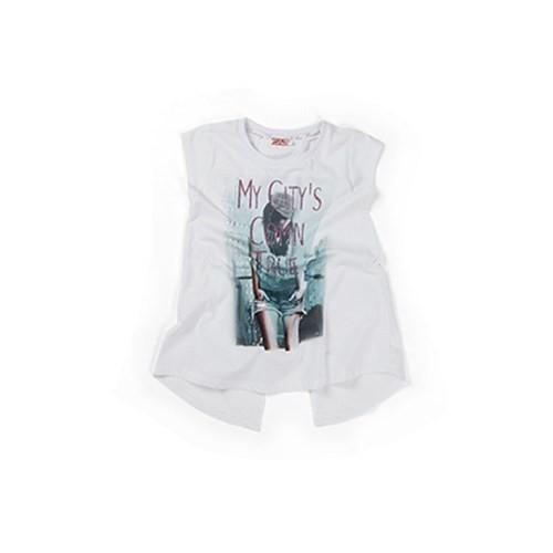Zeyland Kız Çocuk Beyaz T-Shirt - K-61Z4ARL53