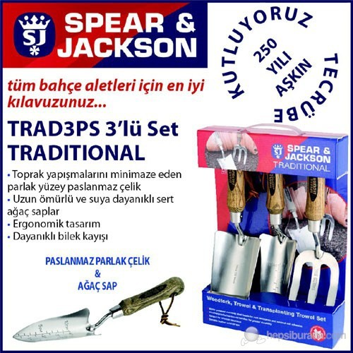 Spear And Jackson Trad3ps Bahçe Küreği Seti 3 Parça