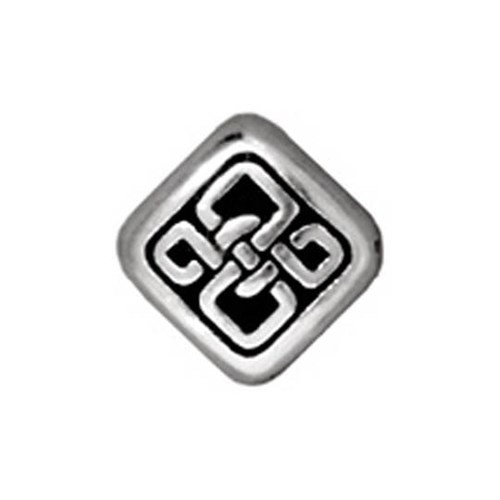 Tierra Cast Metal 1 Adet 8X7.25 Mm Gümüş Rengi Çiçeks Şekilli Boncuk - 94-5528-12