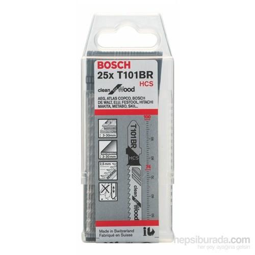 Bosch - Temiz Kesim Serisi Ahşap İçin T 101 Br Dekupaj Testeresi Bıçağı - 25'Li Paket