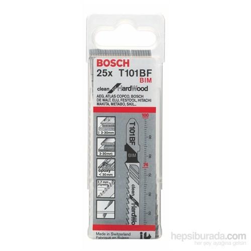 Bosch - Temiz Kesim Serisi Sert Ahşap İçin T 101 Bf Dekupaj Testeresi Bıçağı - 25'Li Paket