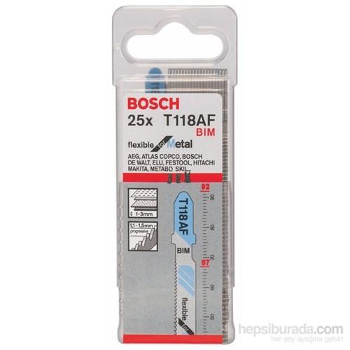 Bosch - Kırılmaya Karşı Dayanıklı Seri Metal İçin T 118 Af Dekupaj Testeresi Bıçağı - 25'Li Paket