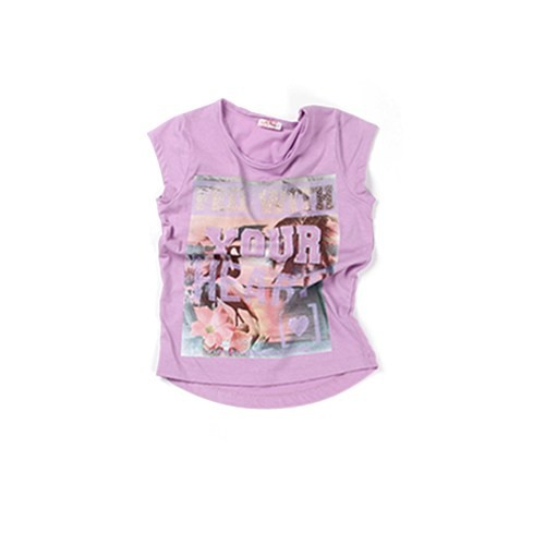 Zeyland Kız Çocuk Lila T-Shirt - K-61Z4EGB56