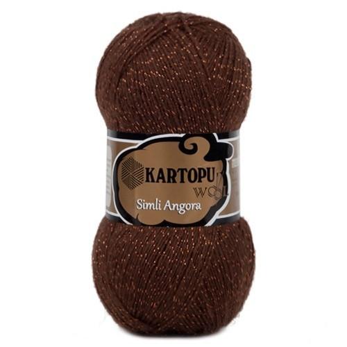 Kartopu Simli Angora Kahverengi El Örgü İpi - K892