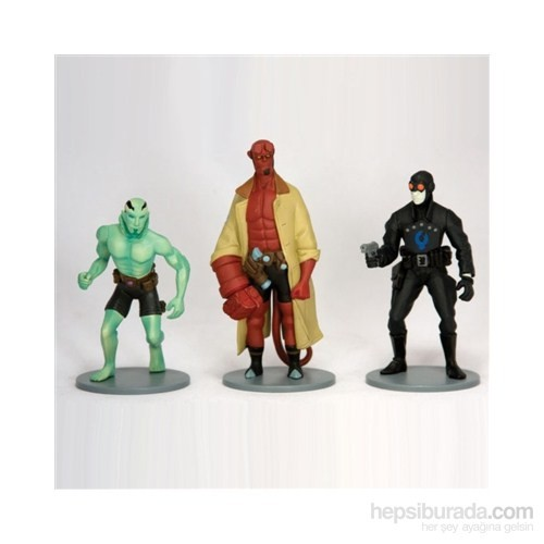 Hellboy Art 3 Pieces Pvc Set Hellboy 3'Lü Figür Seti