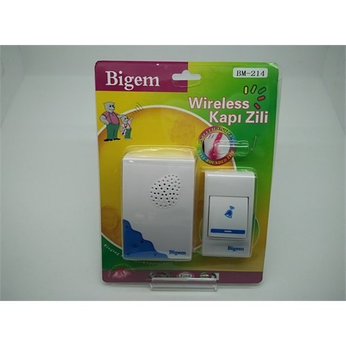 Bigem Wireless Kablosuz Kapı Zili Bigem Bm-214 Melodili Kapı Pilli Zil