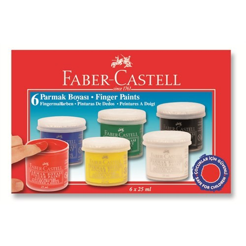 Faber Castell Parmak Boya 6 Renk 160402