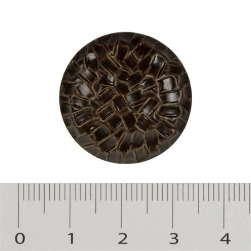 Hobium Büyük Boy Kahverengi Fantazi Düğme