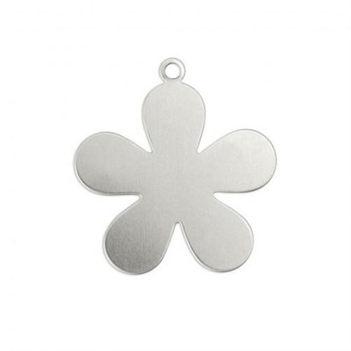 Impressart Çiçek Halkalı Gümüş Damga Levha - Iad12330