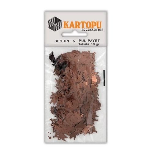 Kartopu Kahverengi Kuş Figürlü Figürel Pul Payet - Pp6