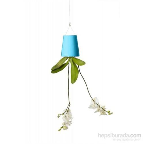 Greenmall Sky Planter - Ters Saksı - Mavi Plastik Saksı