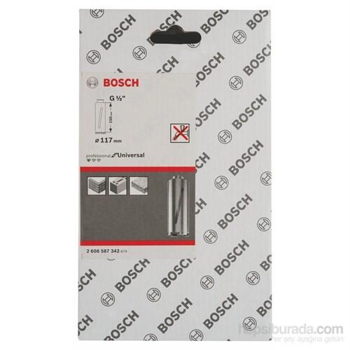 """Bosch - Elmas Kuru Karot Ucu G 1/2"""" - 117 Mm, 150 Mm, 6 Segmente, 7 Mm"""