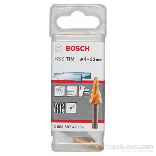 Bosch - Kademeli Matkap Ucu Hss-Tin - 4 - 12 Mm, 6,0 Mm, 50 Mm