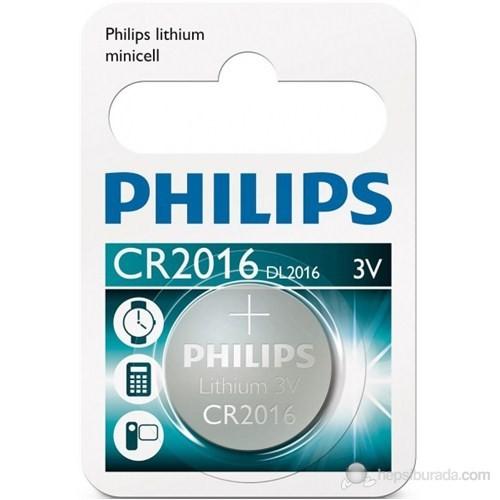 Phılıps Cr2016/01b Düğme Pil Cr2016 Lıthıum 3v (Saat,Hesap Mak,Kamera) Tekli Blister