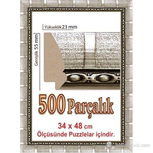 Heidi Polistiren 500 Parçalık Puzzle Çerçevesi 48 X 34 Cm