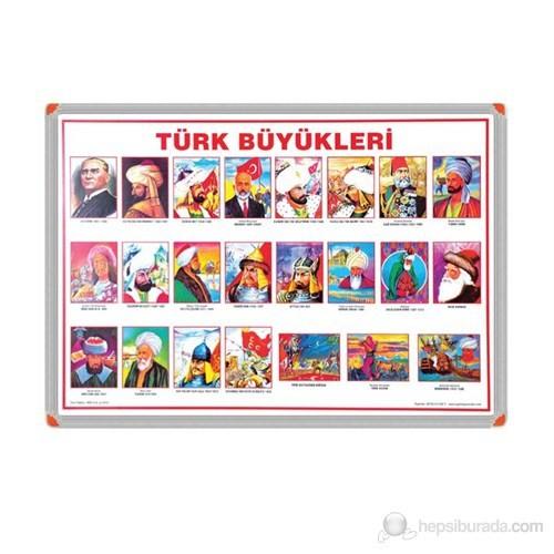 İnter 35x50 Türk Büyükleri Panoları (1 Set = 23 PaNo) Alüminyum Çerçeve INT-751