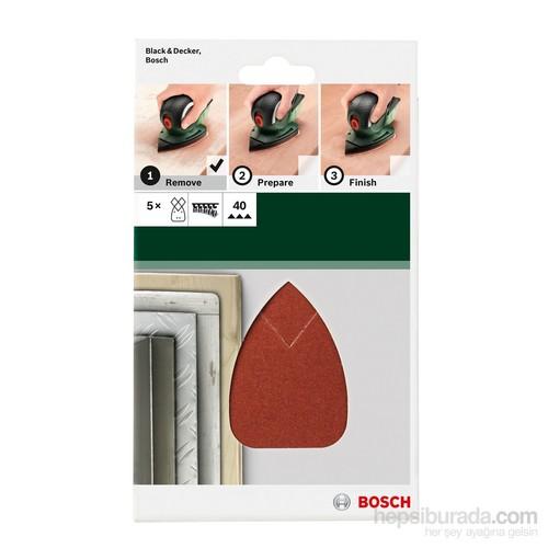 Bosch - Multi Zımpara Kağıdı 5'Li, 95 X 135 Mm 40 Kum 4 Delik