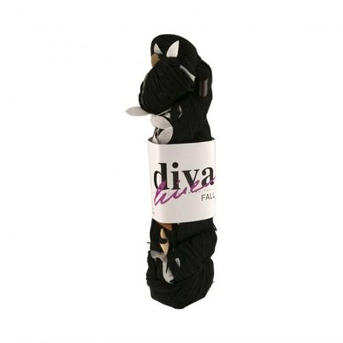 Diva Line Fall Siyah El Örgü İpi
