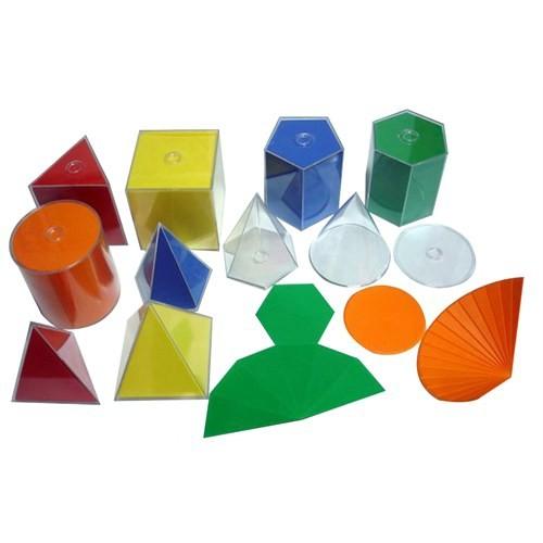Try Geometrik Cisim Açılımları Takımı (Renkli Plastik) 10 Parça 10 Cm