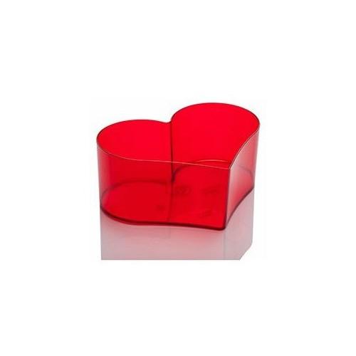 Plantistanbul Kalp Arajman Saksı Kırmızı Renk, 1,7 Litre, 2 Adet