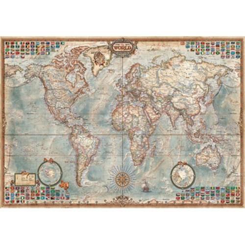 Educa Puzzle The World, Executive Map (4000 Parça)