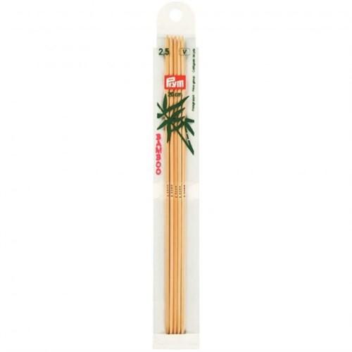 Prym 2,5 Mm 20 Cm Bambu 5'Li Çorap Şişi - 221211