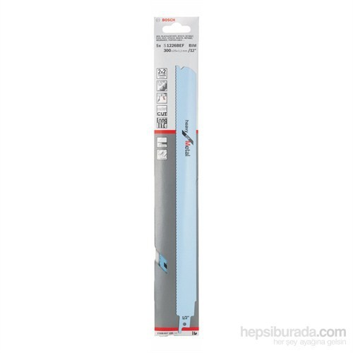 Bosch - Heavy Serisi Metal İçin Tilki Kuyruğu Bıçağı S 1226 Bef - 5'Li Paket