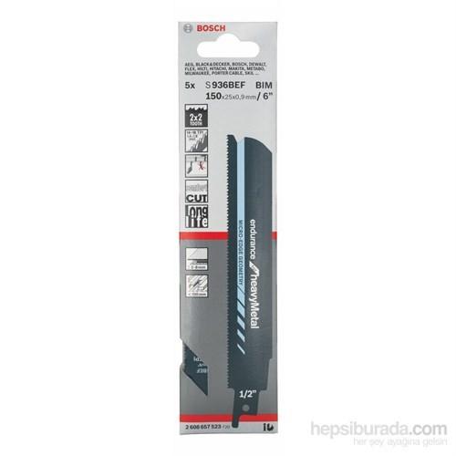 Bosch - Endurance Serisi Ağır Metal İçin Tilki Kuyruğu Bıçağı S 936 Bef - 5'Li Paket