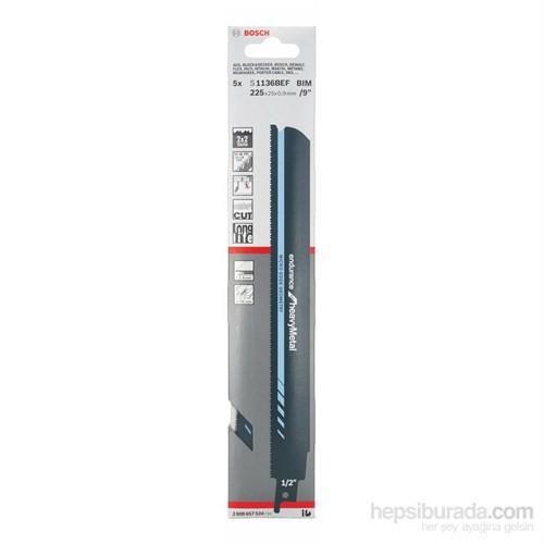 Bosch - Endurance Serisi Ağır Metal İçin Tilki Kuyruğu Bıçağı S 1136 Bef -5'Li Paket