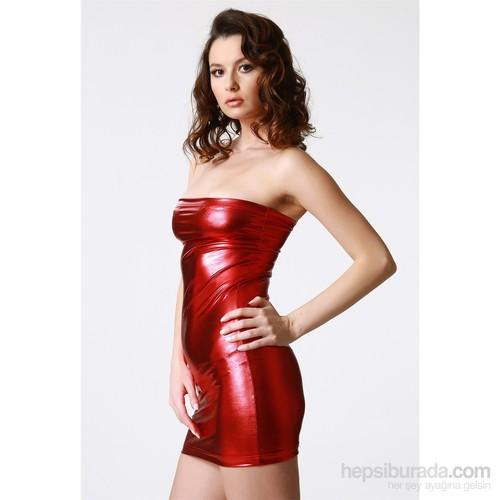 Terry Pau TP112132 Parlak Lame Mini Elbise