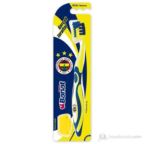 Banat Taraftar Yetişkin Diş fırçası (Fenerbahçe)(Orta Sert, kokulu ,kauçuk saplı)