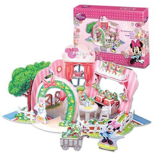 Cubic Fun Minnie'nin Çiçekci Dükkanı (3D Puzzle)