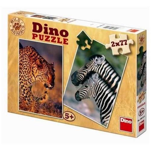 Dino Çocuk Jaguar And Zebras (2X77 Parça)