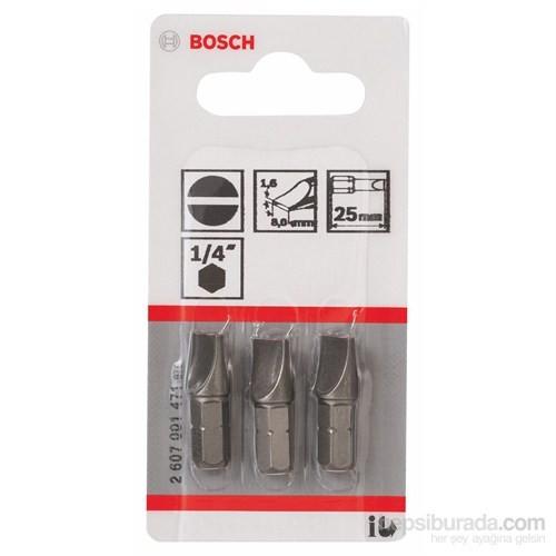Bosch - 3'Lü Paket - Ekstra Sert Seri Vidalama Ucu - S 1,6X8,0, 25 Mm